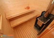 Отдельная сауна домик KEITELE с эл.каменкой Senator T9+C150. Фото 3