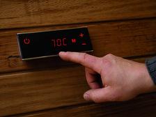 Электрическая каменка Harvia Cilindro PC 110 HEE черный для сауны и бани. Фото 2