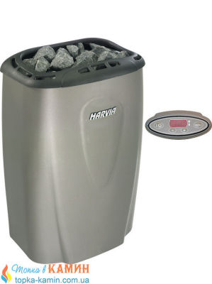 Электрическая каменка Harvia Moderna V45E platinium для сауны и бани