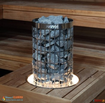 Монтажный фланец с подсветкой HPC2L для каменок Harvia Cilindro 100E/135E