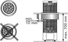 Монтажный фланец с подсветкой HPC2L для каменок Harvia Cilindro 100E/135E. Фото 2