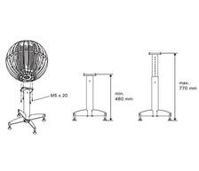Стойка телескопическая HGL3  для электрической каменки Harvia Globe. Фото 2