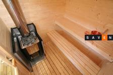 Отдельная сауна домик Kuikka с эл.каменкой Senator T9+пульт С150. Фото 2
