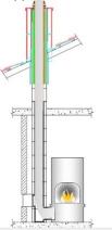 Керамический модульный дымоход Schiedel Uni (одноходовой без вентиляции). Фото 2