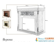 Портал для камина (облицовка) Foks Drev Verona для каминных топок Dimplex (белый). Фото 2