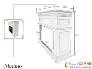Портал для камина (облицовка) Foks Drev Milano для каминных топок Dimplex (коричневый)