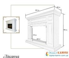 Портал для камина (облицовка) Foks Drev LIKATA для каминных топок Dimplex (белый). Фото 2
