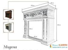 Портал для камина (облицовка) Foks Drev Modena для каминных топок Dimplex (белый) . Фото 2