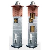 Керамический модульный дымоход Schiedel Uni (одноходовой с вентиляцией). Фото 3