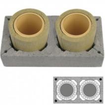 Керамический модульный дымоход Schiedel Uni (двухходовой без вентиляции)