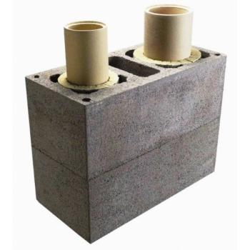 Керамический модульный дымоход Schiedel Uni (двухходовой с вентиляцией)