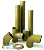 Труба дымохода эмалированная стальная Dovre L=0.75м от Ø150 E9. Фото 2