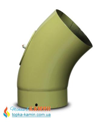 Колено для дымохода эмалированное стальное Dovre 45° Ø150 E9