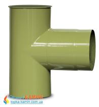 Тройник для дымохода эмалированный стальной Dovre 90° Ø120 E9