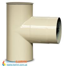 Тройник для дымохода эмалированный стальной Dovre 90° Ø120 E8