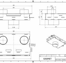 Долот (адаптер) стальной для подачи воздуха снаружы KAWMET к моделям W17 16,1 kW /12,3 kW ECO. Фото 5