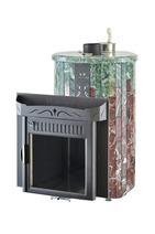 Дровяная печь для бани Ферингер Ламель Мини Змеевик + Россо Леванте (закрытая каменка) 16 м3