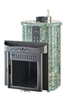 Дровяная печь для бани Ферингер Ламель Макси облицовка Жадеит (закрытая каменка) 30 м3