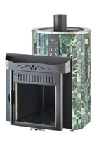 Дровяная печь для сауны Ферингер Ламель Макси облицовка Змеевик Обрамление Металл (открытая каменка) 30 м3