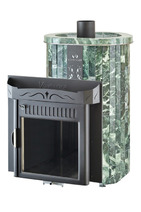 Дровяная печь для сауны Ферингер Ламель Макси облицовка Змеевик Обрамление Камень (открытая каменка) 30 м3