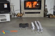 Комплект системы подачи воздуха снаружи для топок KAWMET к модели W17 (12,3kW/16,1kW). Фото 11