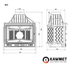 Каминная топка KAWMET W3 (16,7 kW). Фото 10