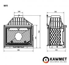 Каминная топка KAWMET W11 (18,1 kW). Фото 4