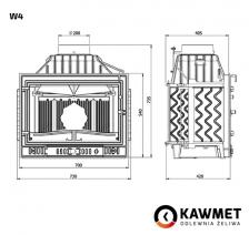Каминная топка KAWMET W4 (14,5 kW). Фото 7