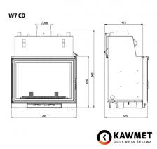 Каминная топка KAWMET W7 CO (25.3 kW). Фото 11