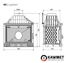 Каминная топка KAWMET W1 (18 kW). Фото 9