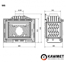 Каминная топка KAWMET W6 (13.7 kW). Фото 8
