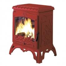 Печь камин чугунная INVICTA Chambord красная. Фото 4