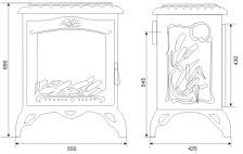 Печь камин чугунная INVICTA Chambord красная. Фото 2