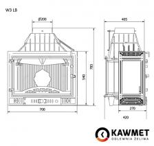 Каминная топка KAWMET W3 с левым боковым стеклом (16.7 kW). Фото 5