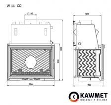 Каминная топка KAWMET W11 CO (18 kW). Фото 9