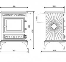 Чугунная печь KAWMET P3 (6.1 kW) EKO. Фото 4